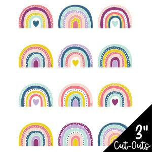 Oh Happy Day Rainbows Mini Cut-Outs
