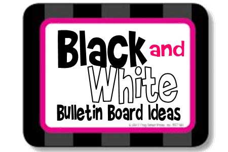 Black & White Bulletin Boards